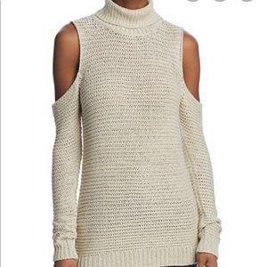 *EUC* Aqua Cold Shoulder Turtleneck Sweater (S)